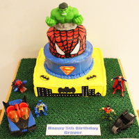 Grayer's 5Th Birthday Superhero Cake