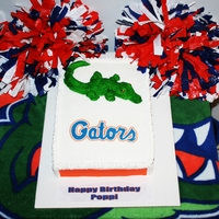 Gator Birthday Cake