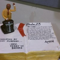 Bible Cake Bible Cake for a Pastor's Birthday.