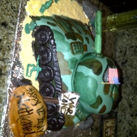 Tank Cake Baked for mq 12 year old nephew, who is very into Military stuff.