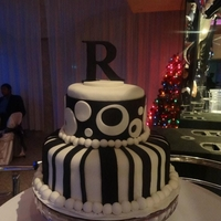 Black & White Party Cake I made this cake for my good friend's birthday party themed Black&White. The 'R' topper was the challenge because I had...