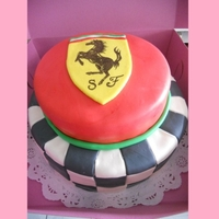 Scuderia Ferrari Cake   This was my first marshmallow fondant cake.