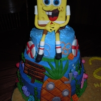 Spongebob Birthday Cake Spongebob Birthday cake for my daughter and nephew.