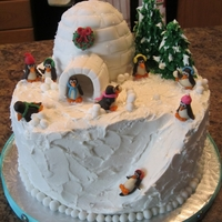 Penguin Winter Frolic Cake