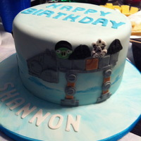 Angry Birds Star Wars Hoth Cake Angry Birds Star Wars Hoth Cake