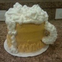 My Fathers Day Beer Mug Lemon cake with Lemon pudding and buttercream, Thanks cc for all the help