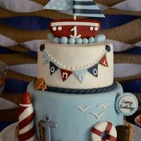 Nautical 1St Birthday Cake Nautical 1st Birthday Cake
