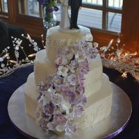Purple Wildflower Wedding Cake Purple Wildflower Wedding Cake