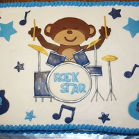Rock Star Monkey For a friends baby shower,theme was Rock Star Monkey by Carters. Dad plays drums so I made monkey playing drums instead of guitar. French...