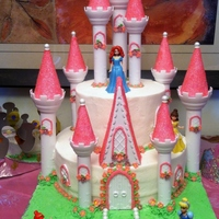 Disney Princess Cake Made With Wlton Set Disney princess cake made with Wlton set.