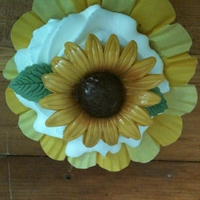 Sunflower Cupcake Sunflower made out of gumpaste.