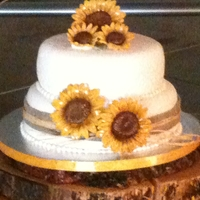 Sunflower Wedding Cake Sunflowers made out of gumpaste