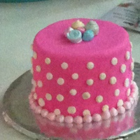 1St Birthday Smash Cake Cake Matched Her Pink And White Poke A Dot Bloomers 1st Birthday Smash cake. Cake matched her pink and white poke a dot bloomers.