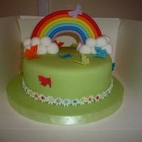 My Rainbow Birthday Cake