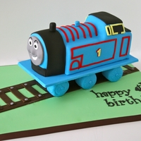 Thomas The Train This Cake was a banana chocolate chip Thomas the tank engine sculpted cake.