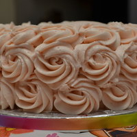 Rosette Cake Strawberry Cream Cheese Buttercream Rosette Cake, 6 in. I used Wilton 1M tip for rose effect.
