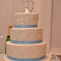 Scroll Wedding Cake. Scroll Wedding Cake