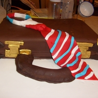 Brief Case And Tie 3D Cake This is a brief case and tie cake that I made.