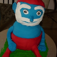 Papa Smurf Cake   Papa Smurf cake I made. Head is all cake too...