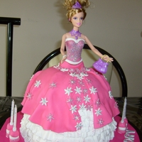 Princess Barbie Doll Cake This cake was made for a little girls birthday. A princess Barbie doll cake.