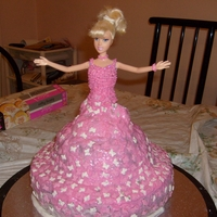 Barbie Doll Cake   This is my other barbie doll cake I made from cream not fondant.