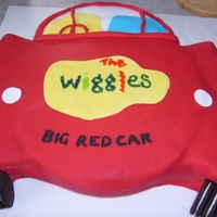 Wiggles Big Red Car Cake I made a Wiggles Big Red Car cake 2D cake.