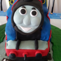 Thomas The Tank Engine Birthday Cake I made this Thomas The Tank Engine Cake for a little boys 3rd Birthday. Please visit my page at http://facebook.com/Serascakecreations .