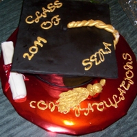 Graduation Cap Cake   This is a university graduation cap cake I made.