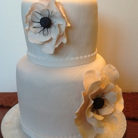 Simple Ivory Wedding Cake Simple Ivory wedding cake
