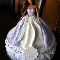 Barbie Barbie cake with fondant dress and cake
