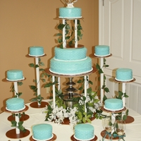 Teal Wedding Cake I was inspired to make this cake for my wedding, from The Knock Shoppe's Antoinette cake. I put my twist on it. And used the color...