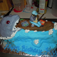 Shark Bite Made this for my neighbour who loves Sharks and Fishing