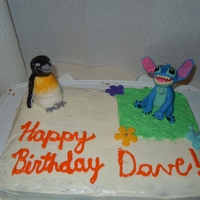 Peguin And Stitch 2 of my hubby's favoruite things