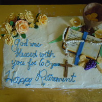 Great Aunts Retirement From The Nunnary Religous retirement cake