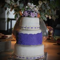 Purple And White Weddingcake