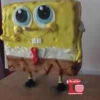 Spongebob 3D I was a bit bored so i make a 3d spongebob cake.