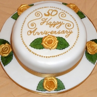 50Th (Golden) Wedding Anniversary 50th Wedding Anniversary cake