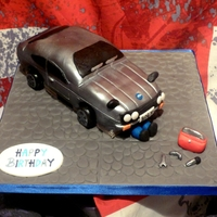Ford Capri Birthday Cake This was my first attempt at a car cake with no prior knowledge on how to even make a car cake. Was for my Grandad's 80th Birthday (...