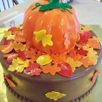 Pumpkin Cake Pumpkin and Fall Folliage