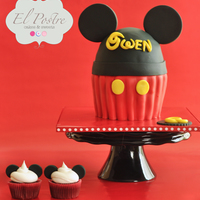 "Mickey Mouse Theme Cake I can finally cross ""make a Mickey Mouse theme cake"" off my bucket list!! I made this cake for a little boy's 2nd birthday...."