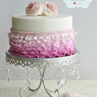 I Made This Ruffles Birthday Cake For A Tea Party This Is My Fist Time Making This Ombre Effect All Ruffles And Pearls Are Made In Fondant... I made this ruffles birthday cake for a tea party. This is my fist time making this ombre effect. All ruffles and pearls are made in...