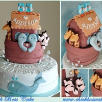 "Noah's Arch Cake ""A Gift From Above...Is A Baby To Love"""