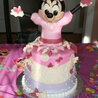 Minnie Mouse Cake My best friends daughter love Minnie, so I had to try to make one for her. It's not the greatest minnie, but the little 3 year old...