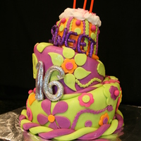 Sweet Sixteen Topsy Turvey Sweet sixtenn cake for by best friends daughter. My first attempt at a topsy turvey. I definitley need more work with the topsy turvey...