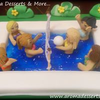 Brookhaven Pool Volleyball Club Cake