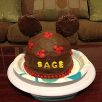 Chocolate Mickey Mouse quick cake, the child wanted all chocolate