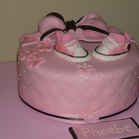 Pink Baby Girl Baby Shower Cake I am new to cake decorating, and have gotten excellent tips from the wonderful members on CC. This is a MMF vanilla cake with lemon butter...