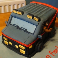 "A-Team Van 30Th Birthday Cake Carved chocolate cake. Made with 3 10"" squares and covered in fondant. B.A Barracus was hand modelled and was my first attempt at a..."