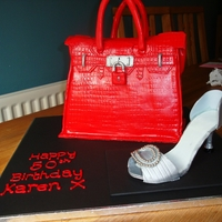 Birkin Bag Cake And Shoe Replica Birkin bag with silver shoe .My first bag cake and shoe attempt. The shoe was much more difficult to make than I thought it would...