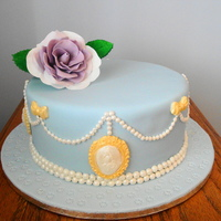 French Regency Inspired Birthday Cake This is my 7th decorated cake. It is a 9 inch round white chocolate cake with Chambord syrup and white chocolate ganache filling. I love...